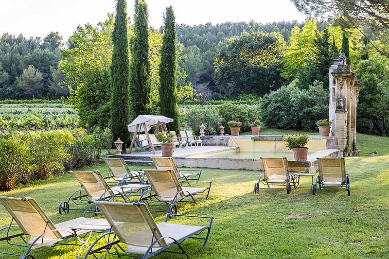 Chateau Talaud pool and garden
